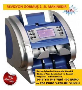I-Hunter 2600 Plus Çift Katlı Para Sayma Makinesi (Cıs 2 Kartlı) Mavi Kasa