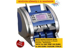 Yenilenmiş Outlet Ürün -  I-Hunter 2600 Plus Para Sayma Makinesi (Cıs 2 Kartlı) Mavi Kasa