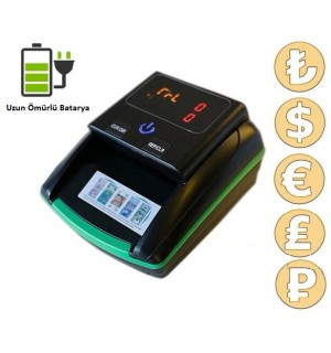 Double Power 2268-F1 Sahte Para Kontrol Makinesi TL - Usd - Euro - Gbp - Rub